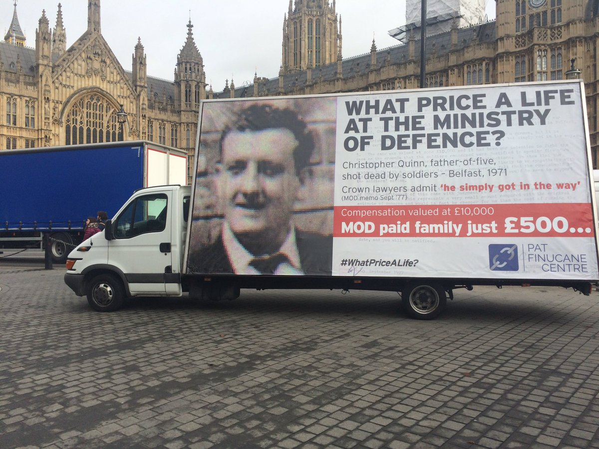 Advan in London highlighting the case of Christopher Quinn
