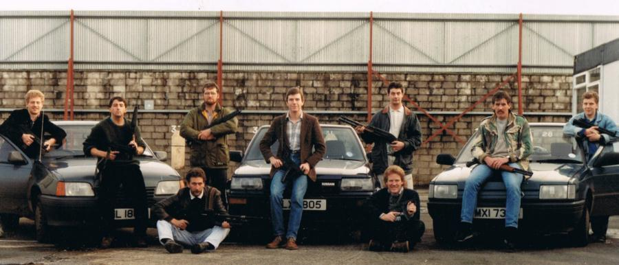 Members of the top secret British Army Force Research Unit in the 1980s