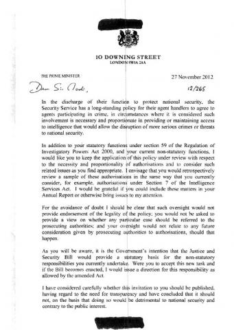 3rd direction PM letter